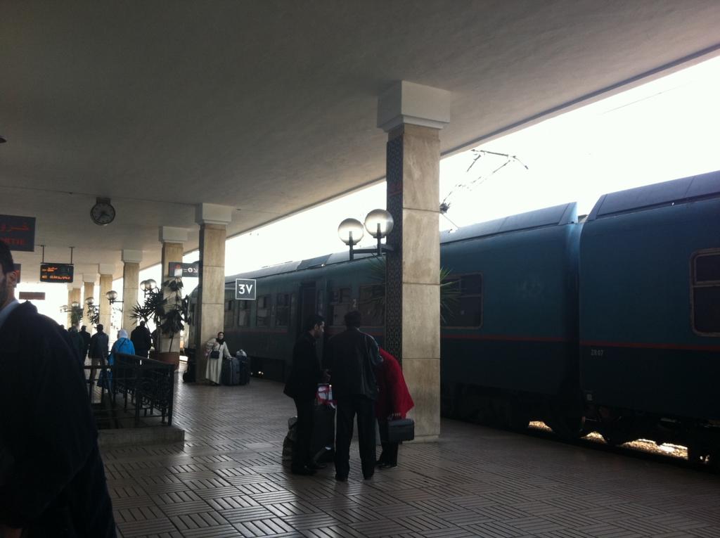 モロッコの列車