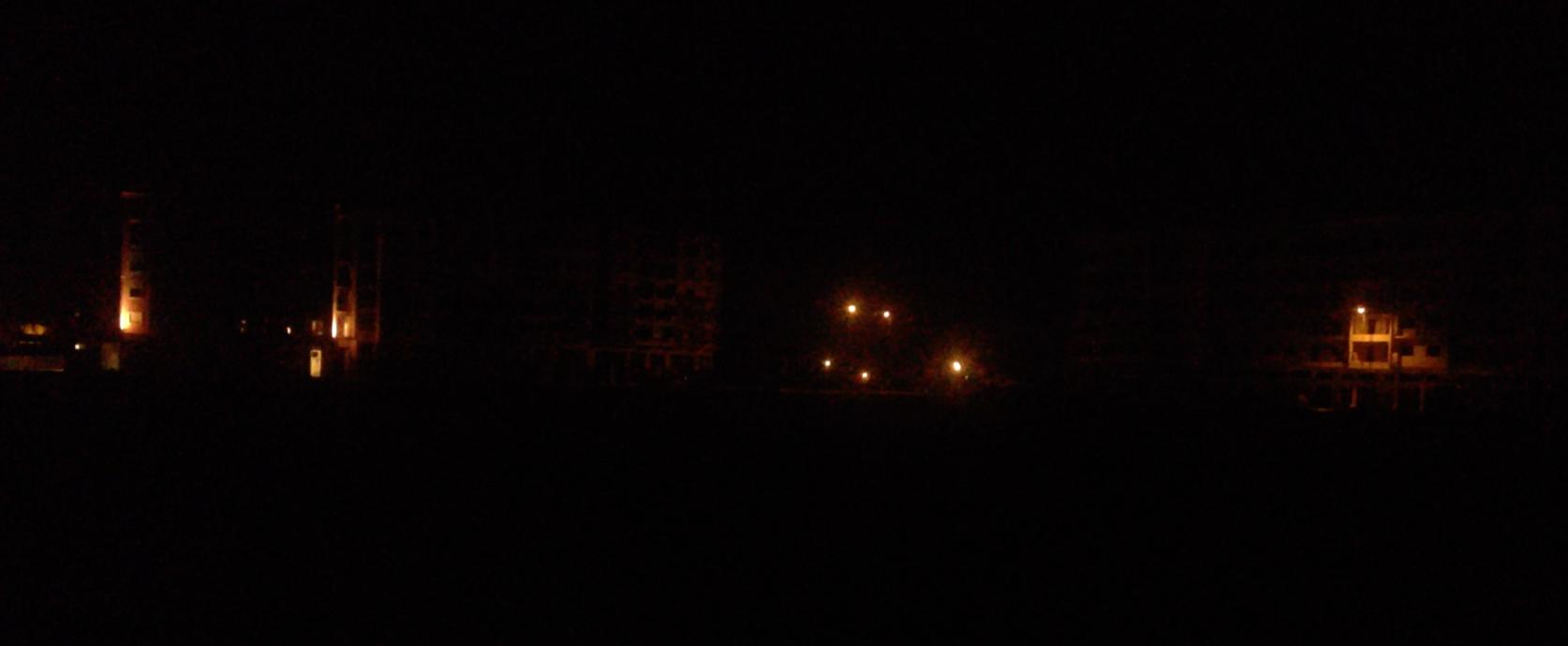 日没後のマラケシュをONCFの車窓から